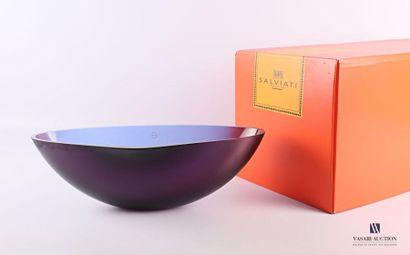 SALVIATI Coupe en verre teinté violet améthyste...
