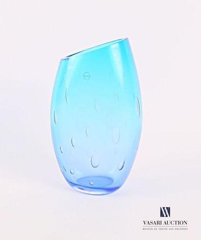 SALVIATI Vase de forme ovoïde en verre teinté...
