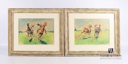 ORDNER Paul (1900-1969) Match de polo Deux...