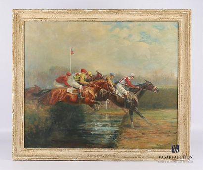PECHAUBES Eugène (1890-1967) Course de steeple-chase...