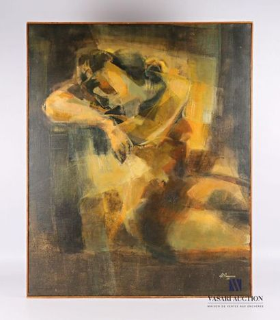 LASSERRE Claude (1921-2012) Homme debout...