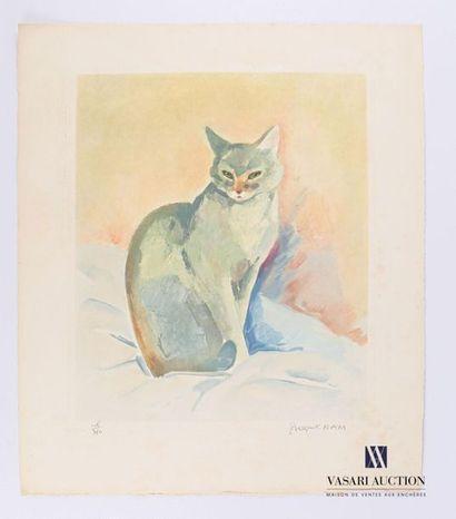 NAM Jacques (1881-1974) d'après Chat assis...