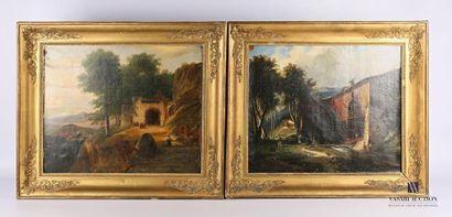 Ecole française du XIXème siècle L'entrée...