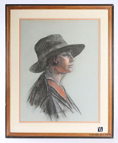 FONDEUR-CUBY Marcelle Emilie (1902-?) Portrait...