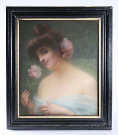 BERINGIER G.N. (XIX-XXème) Portrait de jeune...