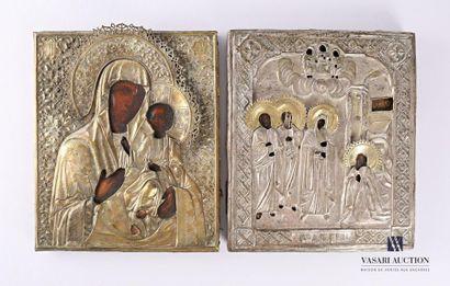 École russe du XIXème siècle La vierge et...