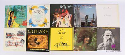 Lot de 20 vinyles : - Lakmé (Léo Delibes)...