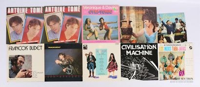 Lot de 25 vinyles : - Antoine Tomé