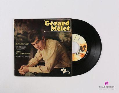 Lot de 20 vinyles : GERARD MELET 1 Disque...