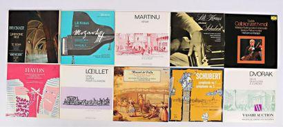 Lot de 18 vinyles : - Bruckner Symphonie...