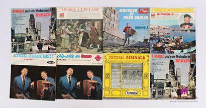 Lot de 18 vinyles : - Aimable und sein orchester...