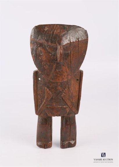 EQUATEUR/PEROU Statue de rituel en bois naturel...
