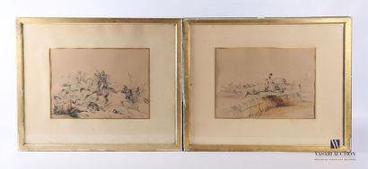 ADAM Victor (1801-1866) Course de Steeple-chase...