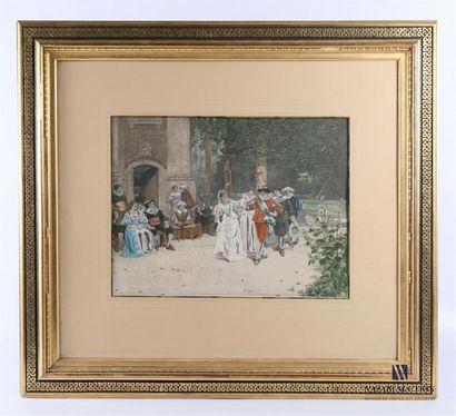 MOREAU Adrien (1843-1906) d'après Scène de...
