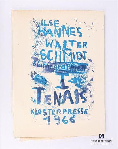 Ensemble de neuf lithographies en couleurs...