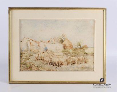 BRISSOT Franck (1818 - 1892) Le retour à...