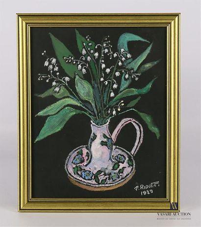 P.RIDONTI (XXème siècle) Bouquet de muguets...
