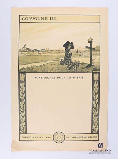 HANSI (1873 - 1951) Affiche municipale de...
