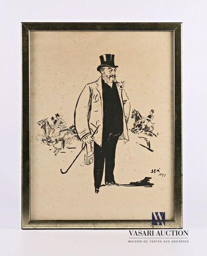 SEM' (1863-1934) d'après Portrait d'homme...