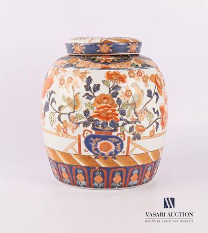 JAPON Pot à gingembre couvert en porcelaine...