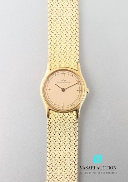 Jaeger Lecoultre, ladies' wristwatch in 750 thousandths yellow gold, round case...