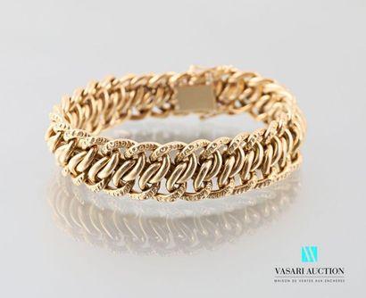 Bracelet en or jaune 750 millièmes à maille...