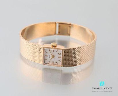 Eska, montre bracelet de dame en or jaune...
