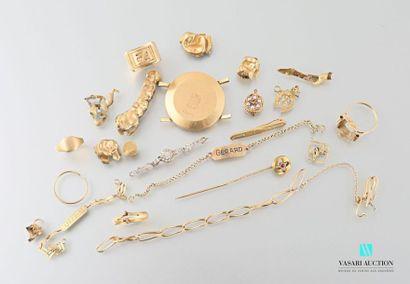 Lot of scrap gold including dental gold Gross weight: 65.3 g