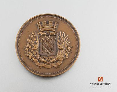 Ville d'Abbeville - Médaille de table, bronze,...