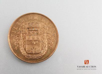 Ville de Lille - Médaille de table, bronze,...