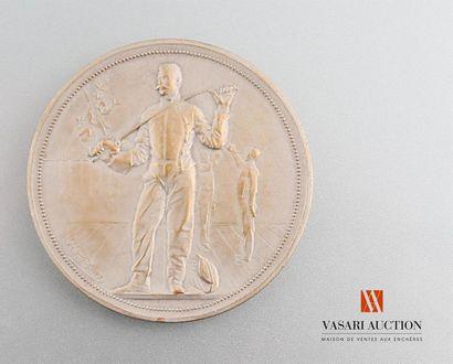 Escrime - Médaille bronze argenté, 46 mm,...