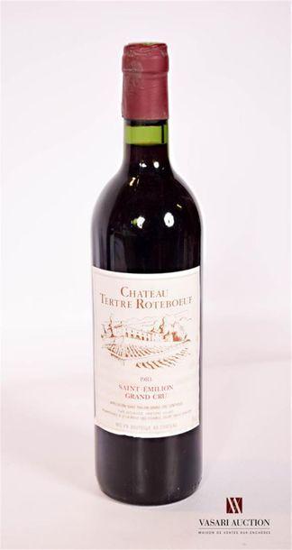 1 bouteilleChâteau TERTRE ROTEBOEUFSt Emilion...