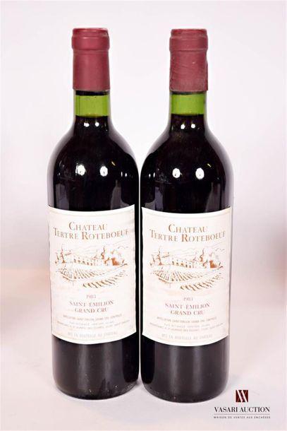 2 bouteillesChâteau TERTRE ROTEBOEUFSt...