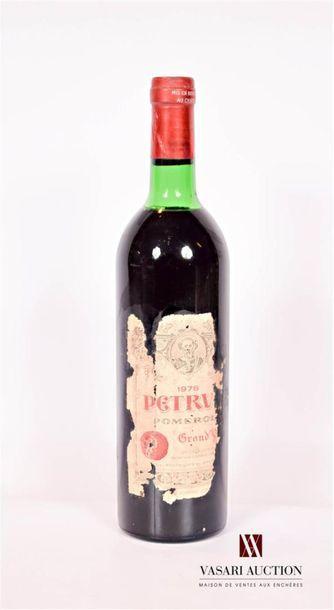 1 bouteillePÉTRUS Pomerol1978 Et. très...