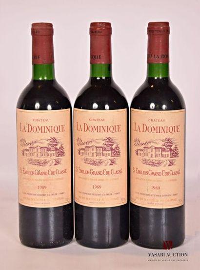 3 bouteillesChâteau LA DOMINIQUESt Emilion...