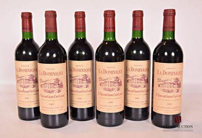 6 bouteillesChâteau LA DOMINIQUESt Emilion...