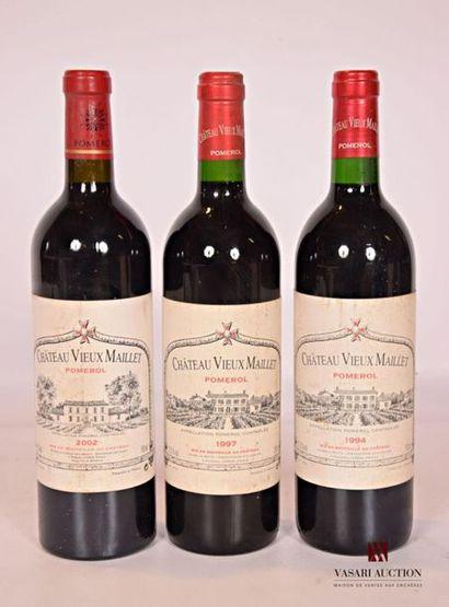 3 bouteillesChâteau VIEUX MAILLETPomerol...