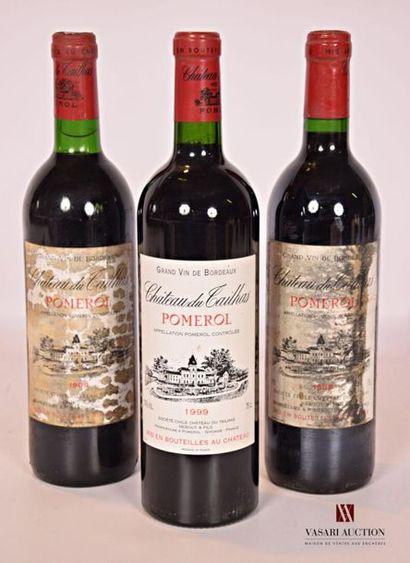 3 bouteillesChâteau DU TAILHASPomerol...