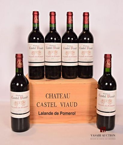 6 BllesChâteau CASTEL VIAUDLalande de Pomerol2003...