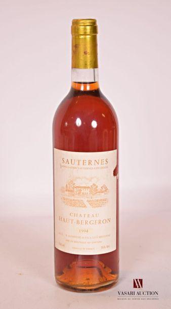 1 bouteilleChâteau HAUT BERGERONSauternes1994...