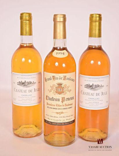 Lot de 3 bouteilles comprenant : 2 bouteillesChâteau...