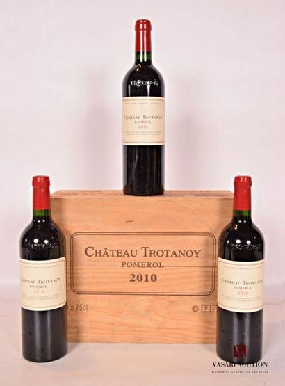*3 bouteillesChâteau TROTANOYPomerol2010...