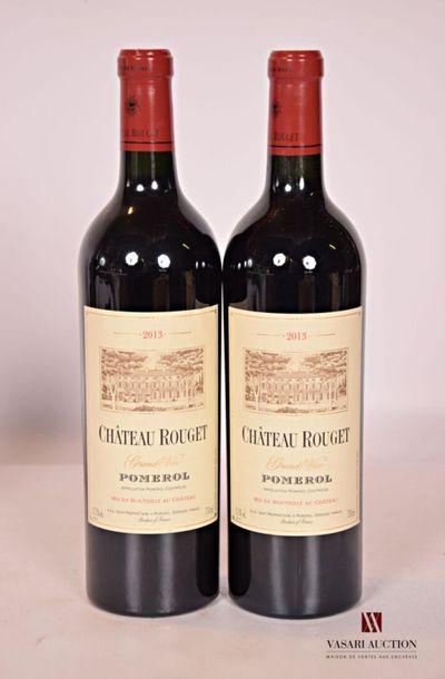 *2 bouteillesChâteau ROUGETPomerol2013...