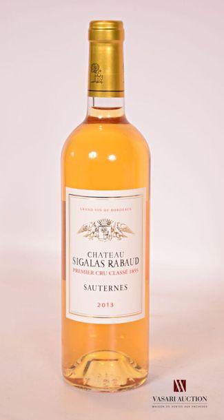 *1 bouteilleChâteau SIGALAS RABAUDSauternes...