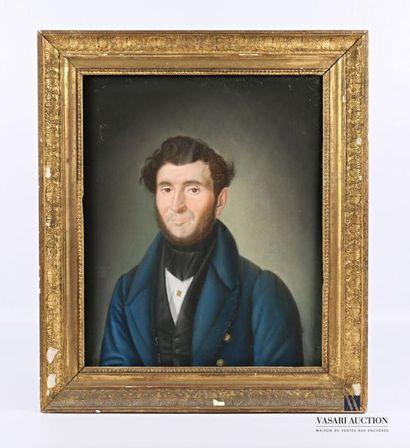 BELLEGARDE (XIXème siècle)  Portrait de gentilhomme...