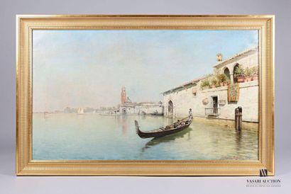 Egidio DA RUBELLI (?-1915)  Gondolier à Venise...