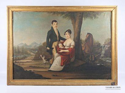 C. BRANDEAU (XIXème siècle)  Portrait de...