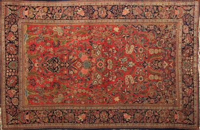 KACHAN KORK - IRAN  Tapis en laine à décor...
