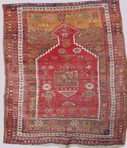TURQUIE - Koula  Tapis de prière en laine...