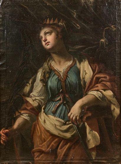 Ecole ITALIENNE du XVIIème siècle  Sainte...